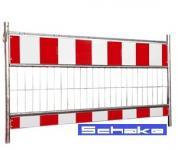 Absturzsicherung Metall rot/weiß 1,60 x 1,10m