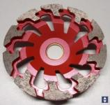 Diamantschleifteller Ø130mmx25mm T-Kopf Abrasiv