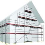 Fassaden Blitzgerüst Raster 73 x 109 cm