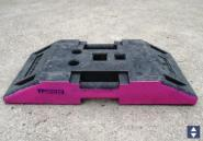 TL-Fußplatte ( Bakenfußplatte ) PVC schwarz