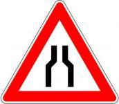 Beidseitig verengte Fahrbahn Gefahrzeichen 120