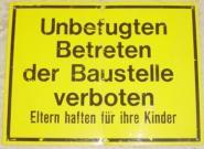 Betreten d. Baustelle verboten 34x26cm Sonderschilder1085-10