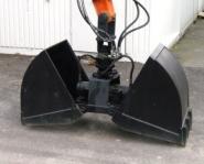 Zweischalengreifer hydr.drehbar für 3,5t Bagger B=40cm SWE3