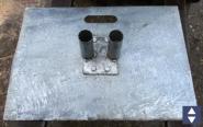 Stahlfußplatte B=50cm L=70cm