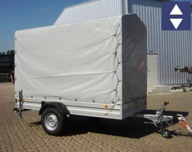 PKW-Anhänger 301x150x195cm Nutzl.1077kg Plane Grau