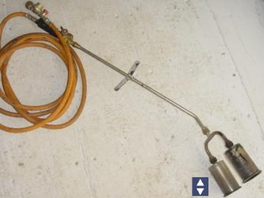 Dachpappbrenner / Anwärmbrenner Zweiflammig 2 x 55/65mm