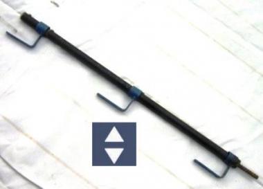 Kombi-Geländerhalter, schwarz  1.2m Ø3cm