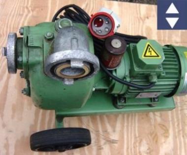 Pumpe S50G32T  2HM=40m³/h 16A An+Absaugpumpe (Schmutzwasser)