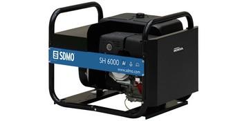 Stromerzeuger 6 kW 2x230V Benzin SDMO SH6000E