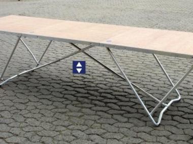 Tapeziertisch Aluminium Breite 80cm Länge 305cm