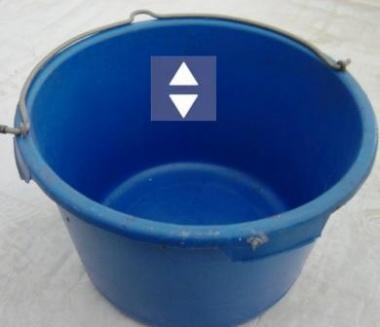 """Transportkübel 40 Ltr.""""rund"""" Blau für Boy/Primo"""