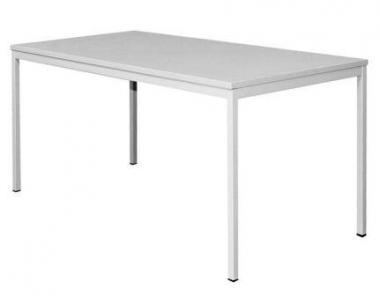 Schreibtisch Stahlrohrgestell grau