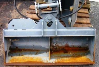 Grabenraumlöffel hydr. für 3,5t Bagger B=120cm SWE03