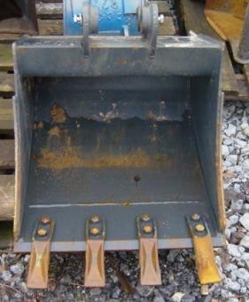 Tieflöffel für1,6t / 1,8t Bagger B=50cm mit Zähne SWE01
