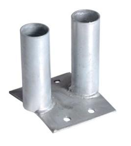 Bodenplatte mit 2 Einsteckhülsen für Ortsfesten Aufbau