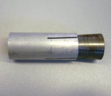 Kombi-Anker Alu/Stahl L=12.5cm innen ØDW15mm / AussennØ25mm