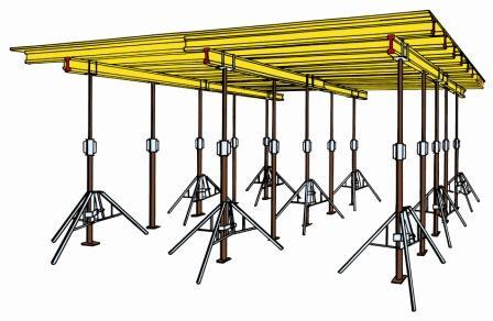 Deckenschalung Set  50 m² Deckenhöhe ca. 2.20m-3.00m