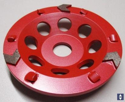 """Dia-Schleifteller""""Red""""PKD Ø125/22.2mm f.dicke  Beschichtung"""