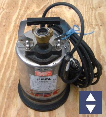 """Pumpe FSR400-1"""" 2HM=16m³/h 230V (Flachsaugpumpe Klarwasser)"""
