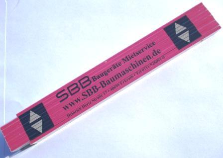 Zollstock Holzgliedermaßstab mit SBB Logo