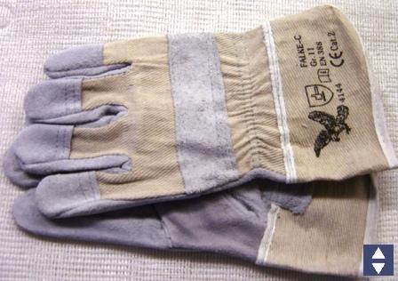 Handschuhe Leder EN388, CAT II Adler Gr.10