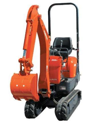 Mini-Bagger Kubota K008-3 Gewicht 980 kg