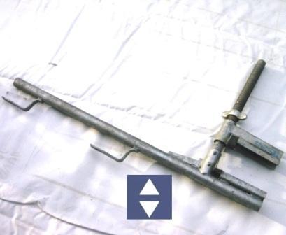 Brüstungs-Schutzgeländerzwinge 8,5-40cm Höhe=1m