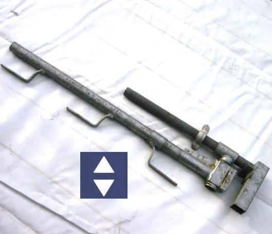 Schutzgeländerzwingen (Universal) verz.1-40cm Höhe 1m