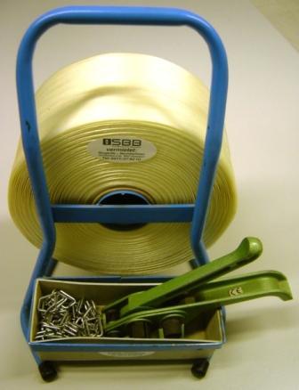 Umreifungsset für Kraftbänder 16mm mit Tragbarem Bandroller